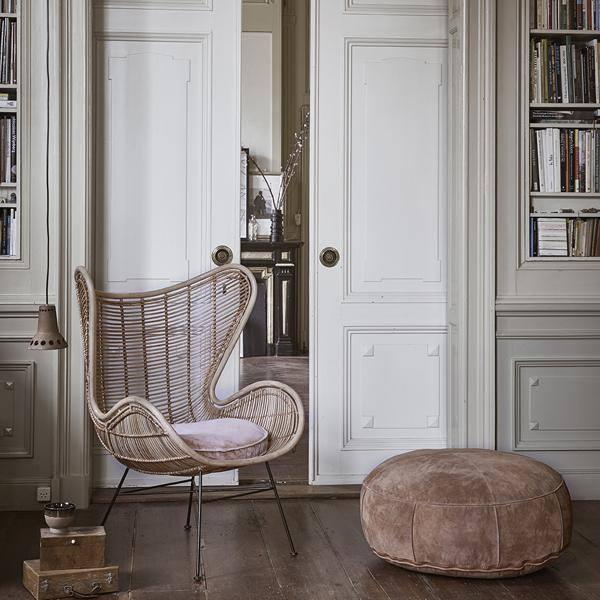 Ghế mây- Egg chair phong cách vintage