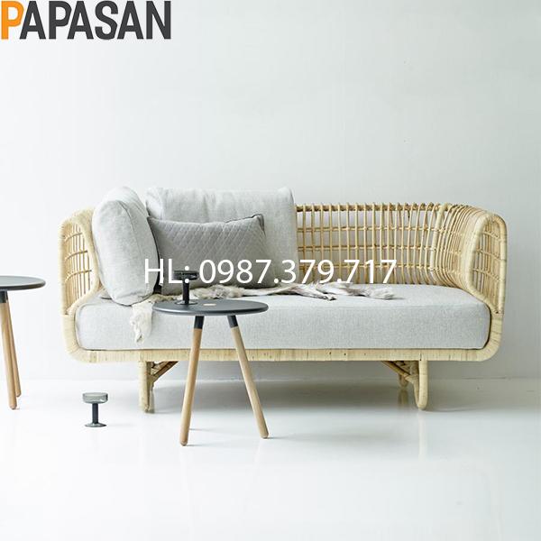 Sofa Mây SF01 (Sofa Mây Nữ Hoàng) đơn giản tinh tế