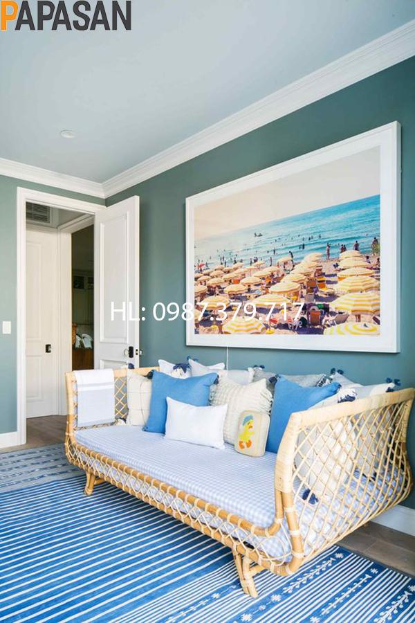 Sofa Mây SF10 bài trí không gian phòng ngủ