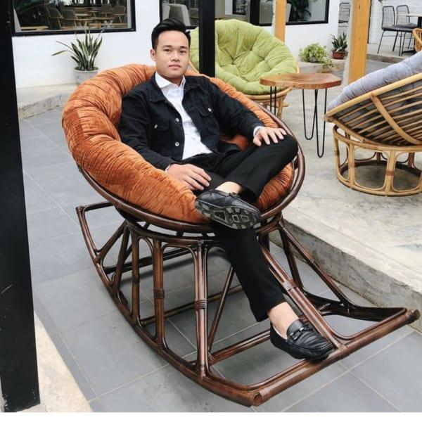 Ghế Bập Bênh Mây 120cm - Papasan Việt Nam