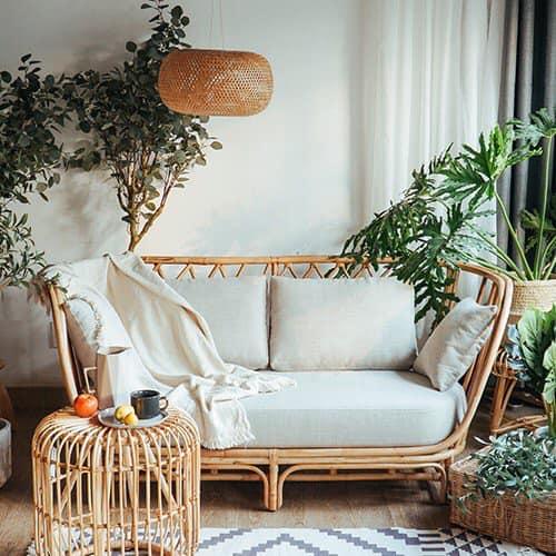 sofa mây cho không gian ngoại thất