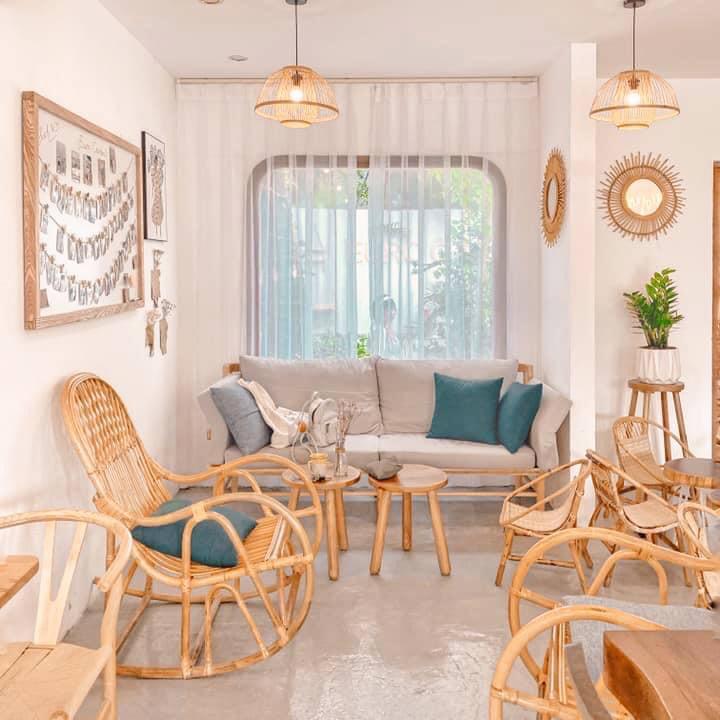 Những mẫu bàn ghế mây cà phê đơn giản